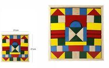 Gioco Costruzioni in Legno Colorato Educativo Per Bambini Bimbi 48 Pezzi dfh