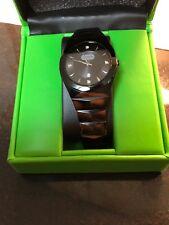 Croton Men's Swiss Quartz Black Tungsten Bracelet Watch with Date