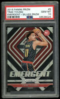2018 Panini Prizm Emergent Silver #5 Trae Young Hawks RC Rookie Card PSA 10📈