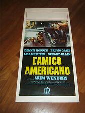 LOCANDINA,AMERICAN FRIEND,1977,L'AMICO AMERICANO,WENDERS,GANZ HOPPER