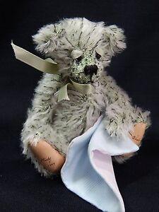 "World of Miniature Bears By Theresa Yang 5"" Mohair Bear Misty #882 CLOSING"