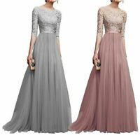 Dresses Long Formal Evening Lace Maxi Cocktail Dress Vintage Party Women Wedding