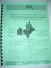 AMAL GP2 series 516 Description and Tuning Instructions