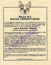 Rules In A Boston Terrier's House