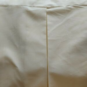 box pleat single bed valence cream x 2