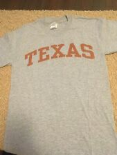 """Gray Texas T-shirt Orange Letters Size S Adult Chest 36"""" Short Sleeves"""