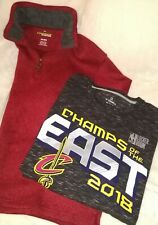 Mens Tops Lot Xxl Fanatics Nba Cavs Haggar Pullover Red Zipper Perfect