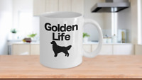 Golden Retriever Mug White Coffee Cup Funny Gift for Dog Mom Dad Lover Best Life