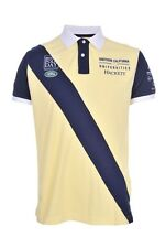 Hackett British Polo Day Mens YELLOW Cotton Short Sleeve Polo Shirt Size M