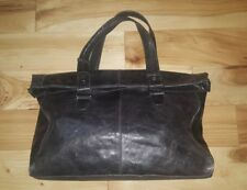MAURIZIO TAIUTI Pebbled Leather XL satchel handbag tote boho chic Large