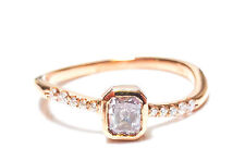 0.40ct Natural Fancy Light Pink Diamond Engagement Ring F VS1 18K VS2 Rose Gold
