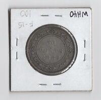 1882-H NEWFOUNDLAND CANADA .925 SILVER 50 CENTS HALF DOLLAR QUEEN VICTORIA!