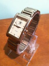 Vintage Beverly Hills Polo Club Silver Plated Quartz Wrist Watch