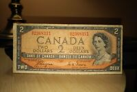 1954 Devil's Face $2 Dollar Bank of Canada Banknote BB2368331