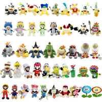 Super Mario Bros Koopalings Bowser Princes Flying Squirrel Plush Toy Optional