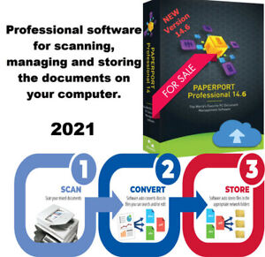 Nuance PaperPort 14.6 Professional scanning, converting,edit documents -Orignal