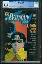Batman # 427 CGC-GRADED 9.2 NEAR MINT- WP DEATH IN THE FAMILY 1988 DC ITEM:G-439