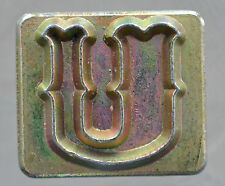 """Leather Tools Tandy  Craftool Alphabet Replacement 3/4 """" letter U Stamp"""