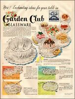 1950 vintage AD for GARDEN CLUB Glassware  Smoke and Sip Coaster-ashtray 072620
