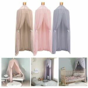 Hanging Mosquito Net Baby Bed Canopy Curtain Tent Baby Crib Netting Round Hung