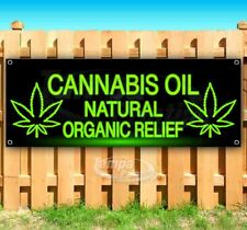 Cannabis Oil Natural Organic Relief Advertising Vinyl Banner Flag Sign Usa Cbd