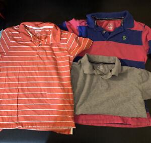 Childrens Place Arizona Boys Polo Shirt Lot 3 Size 10/12 Large