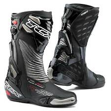 STIVALI BOOTS MOTO RACING SPORT TCX R-S2 RS2 EVO NERO BLACK SILVER TORSION TG 42