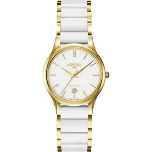 Roamer C-Line White Ceramic Strap Women's Quartz Watch 657844 48 25 60