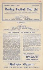 More details for reading reserves v cardiff city reserves 1945/6 (6 apr) league cup competition