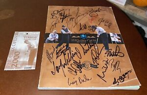 2000 Phoenix Open Program Signed By PGA Professionals (Phil Mickelson & More)