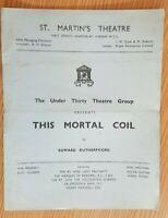 THEATRE PROGRAMME  THIS MORTAL COIL VIVIENNE MERCHANT OSCAR QUITAK IAN RUSSELL