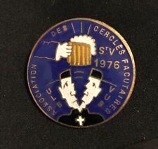 Medaille Saint Verhaegen 1976 ULB VUB étudiants studenten