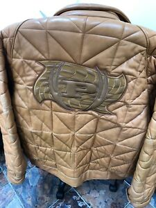 PHAT FARM 4XL MENS QUILTED LEATHER BOMBER JACKET COAT MSRP $1000!!!