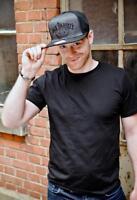 Jack Daniel's Snap Back Cap No 7 - grau schwarz - flexible Größe - Mütze Käppi