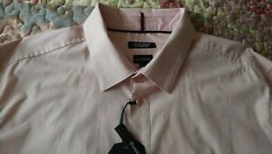 Fantastic OUTRAGE LONDON Dusky Pink Long Sleeve Shirt with Stretch Size XXL BNWT