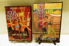 2 Yoga Booty Ballet LIVE Hip Hop Abs VGC - Complete Body Shaping SEALED DVD's