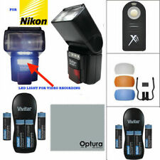 PRO XENON FLASH + CHARGER+REMOTE FOR NIKON D40 D50 D60 D70 D80 D90 D3100 D5300