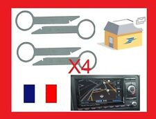 4 Clés d'extraction autoradio demontage poste gps navi plus audi a6 2003 neuf