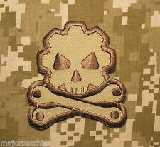 DEATH MECHANIC MORALE BADGE USA ARMY DESERT VELCRO® BRAND FASTENER PATCH