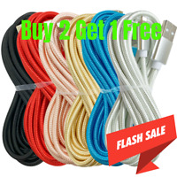 10Ft USB Fast Charger Cable Braided For iPhone 11 Pro Max XR 8 7 6 Charging cord