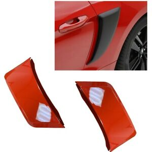 For 15-20 Ford Mustang GT Style Rear Side Fender Hood Vent Painted Red #PQ