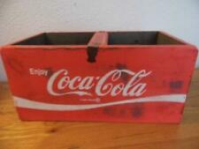 FAB SHABBY VINTAGE CHIC STYLE WOOD  RED FINISH STORAGE COKE CRATE COCA COLA BOX