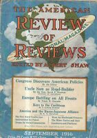 1916 Review of Reviews September - Danish West Indies;Americans evicted by Turks