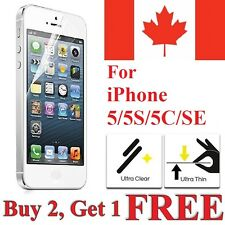 Clear Transparent Screen Protector Cover for iPhone 5S 5 5C & iPhone SE