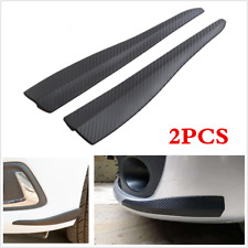 2Pcs 28cm Carbon Fiber Universal Car Bumper Corner Guard Strip Crash Bar Trim