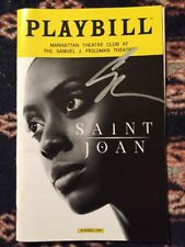 Condola Rashad (2018 Tony Award Nominee) Signed Saint Joan Playbill