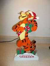 "19.5"" Tall Disney Springy Tigger ""Christmas Is Tiggerific"" Standing Deco 514"