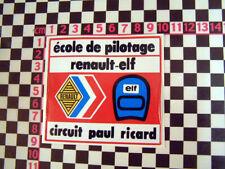 Etiqueta engomada de la escuela de carreras francés Renault Fuego 4 Turbo GT - 5 Alpine 310 610 Gta