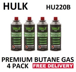 HULK  BUTANE GAS 220gm PER CAN COUNTER SINK RELEASE (CRV)VENT   PKT 4  HU220B