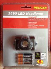 NEW PELICAN 2690 LED headlamp Headband head torch IPX7 74 Lumens  Work Lamp